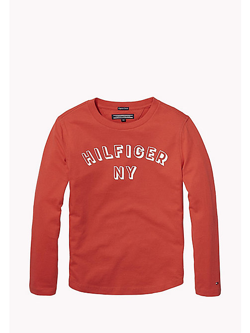 TOMMY HILFIGER Top in cotone biologico con logo - LOLLIPOP - TOMMY HILFIGER T-shirts & Polo - immagine principale