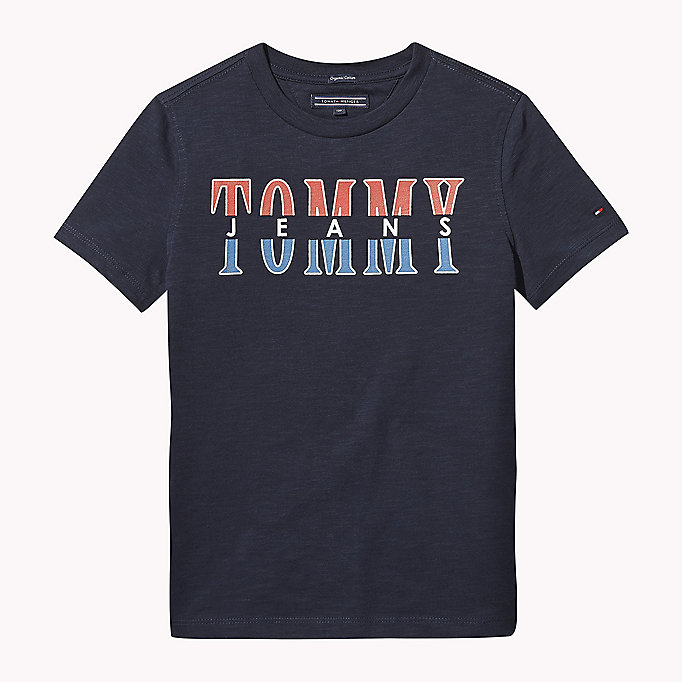 TOMMY HILFIGER Tommy Jeans Organic Cotton T-Shirt - BRIGHT WHITE - TOMMY HILFIGER Kids - main image