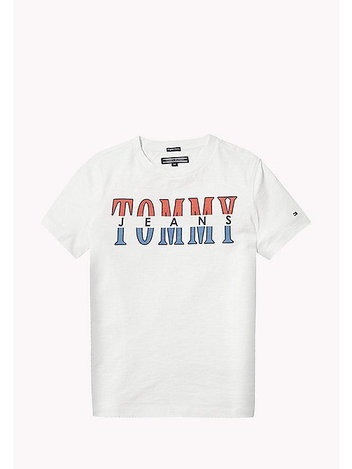 TOMMY HILFIGER Tommy Jeans Organic Cotton T-Shirt - BRIGHT WHITE - TOMMY HILFIGER Boys - main image