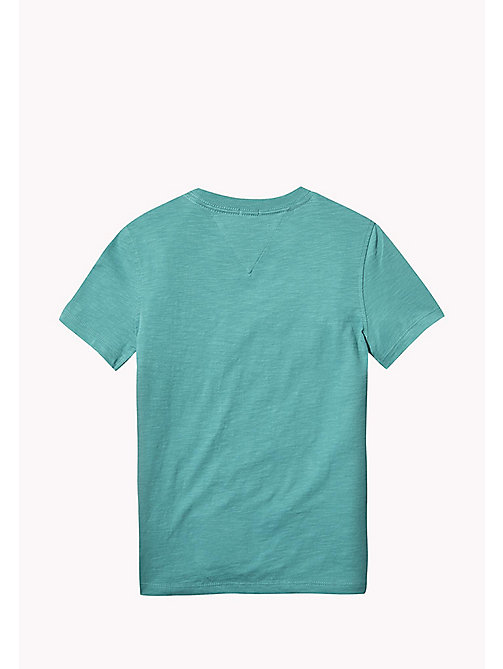 TOMMY HILFIGER Tommy Jeans Organic Cotton T-Shirt - GREEN-BLUE SLATE - TOMMY HILFIGER T-shirts & Polos - detail image 1