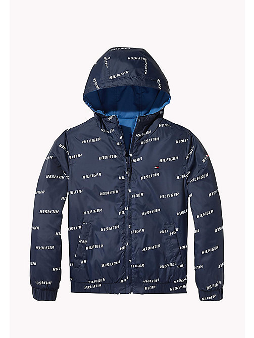 TOMMY HILFIGER Reversible Waterproof Jacket - BLACK IRIS - TOMMY HILFIGER Coats & Jackets - main image