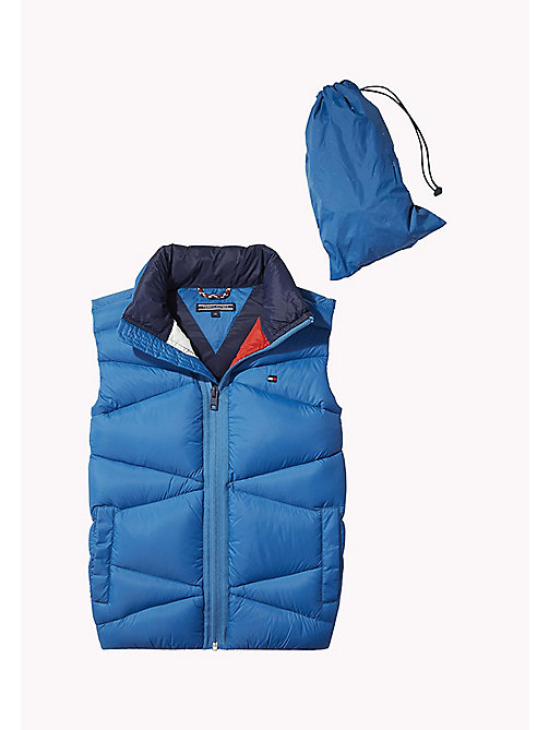 TOMMY HILFIGER Packable Down Vest - BLUE SAPPHIRE - TOMMY HILFIGER Coats & Jackets - main image