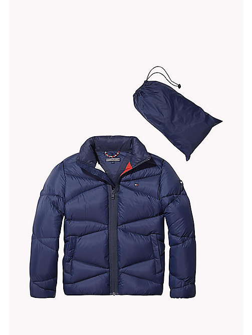 TOMMY HILFIGER Packable Light Down Jacket - BLACK IRIS - TOMMY HILFIGER Boys - main image