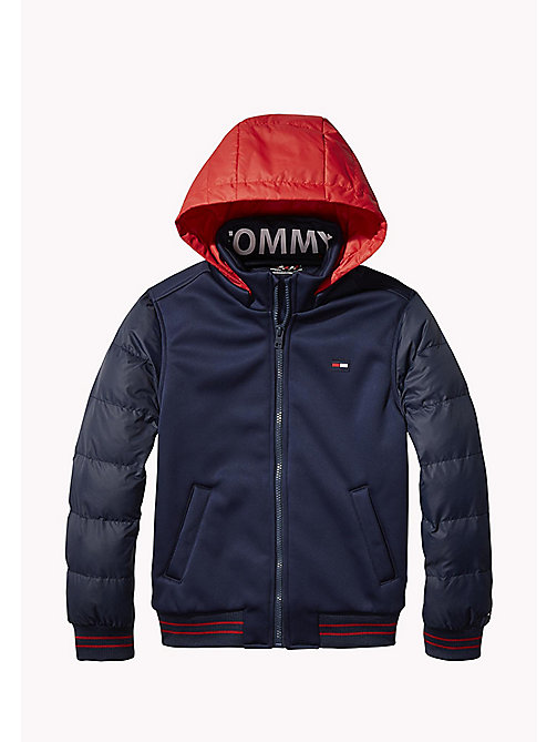TOMMY HILFIGER Detachable Hood Sports Jacket - BLACK IRIS - TOMMY HILFIGER Coats & Jackets - main image