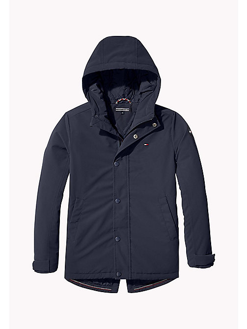 TOMMY HILFIGER Coated Logo Parka - BLACK IRIS - TOMMY HILFIGER Boys - main image