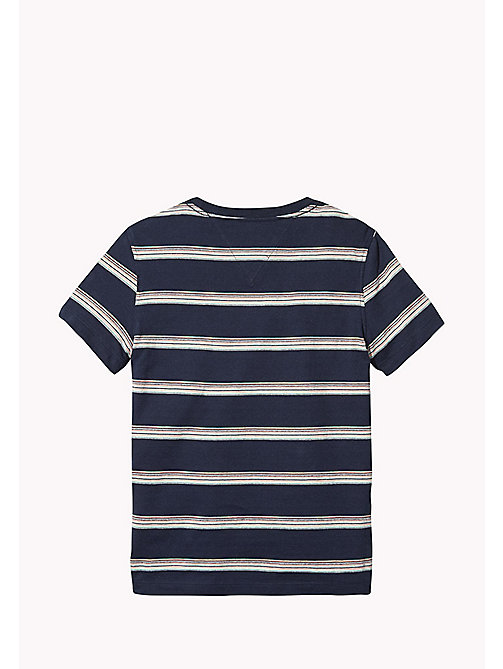 TOMMY HILFIGER Gestreiftes Jacquard-T-Shirt - BLACK IRIS / MULTI - TOMMY HILFIGER T-shirts & Poloshirts - main image 1