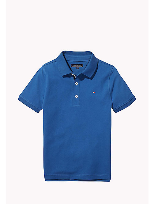 TOMMY HILFIGER Slim fit poloshirt - BLUE SAPPHIRE -  T-shirts & Polo's - main image