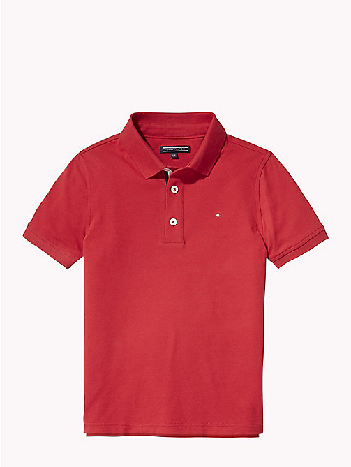 TOMMY HILFIGER Koszulka polo o wąskim kroju - APPLE RED - TOMMY HILFIGER T-shirty i Koszulki polo - main image