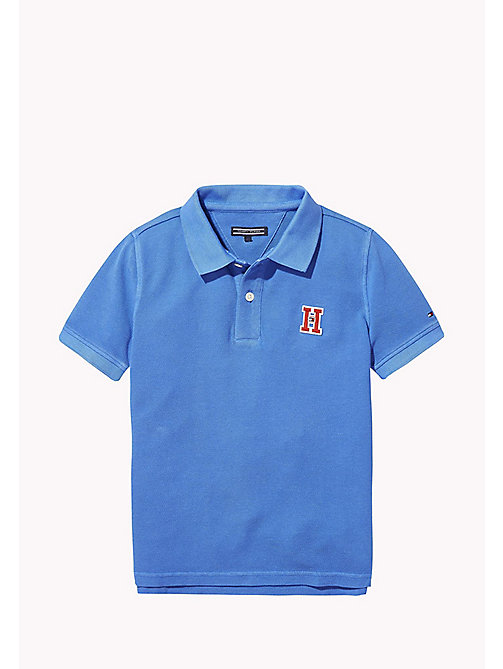 TOMMY HILFIGER Neon Cotton Polo - STRONG BLUE -  Boys - main image