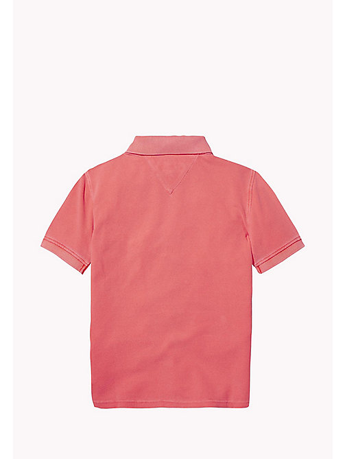 TOMMY HILFIGER Neon Cotton Polo - NEON ORANGE - TOMMY HILFIGER Boys - detail image 1