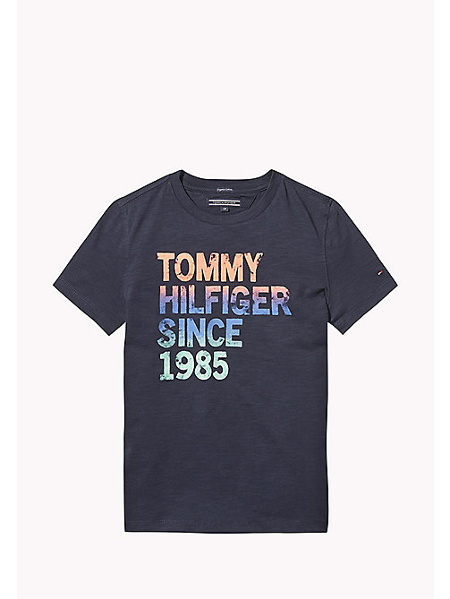 TOMMY HILFIGER Gradient Logo T-Shirt - BLACK IRIS - TOMMY HILFIGER T-shirts & Polos - main image