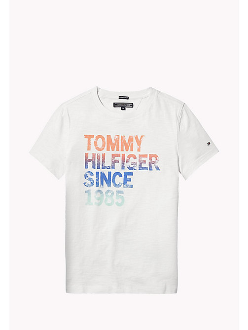 TOMMY HILFIGER Gradient Logo T-Shirt - BRIGHT WHITE -  Boys - main image