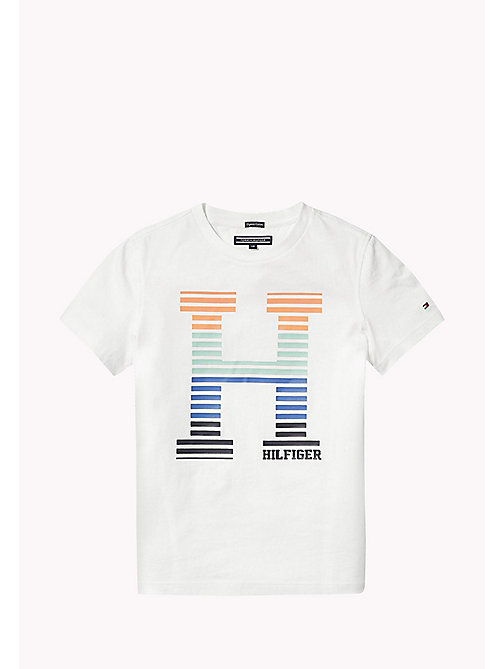 TOMMY HILFIGER Bold Monogram Logo T-Shirt - BRIGHT WHITE - TOMMY HILFIGER Boys - main image