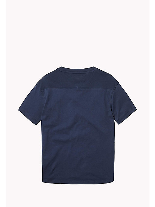 TOMMY HILFIGER Jersey T-shirt met V-hals - BLACK IRIS -  T-shirts & Polo's - detail image 1