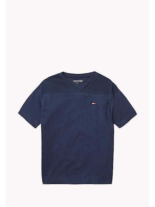 TOMMY HILFIGER Jersey T-shirt met V-hals - BLACK IRIS -  T-shirts & Polo's - main image