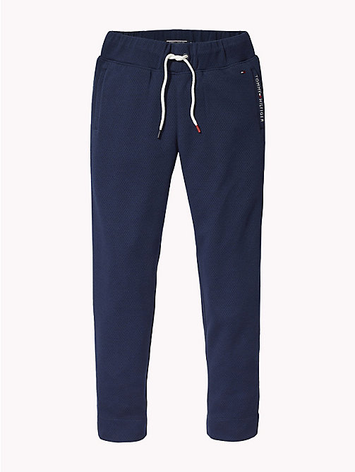 TOMMY HILFIGER Tapered Mesh Jogging Bottoms - BLACK IRIS - TOMMY HILFIGER Trousers & Shorts - detail image 1