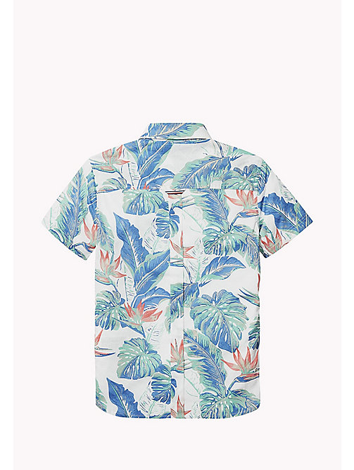 TOMMY HILFIGER Tropical Print Shirt - BRIGHT WHITE MULTI - TOMMY HILFIGER Boys - detail image 1
