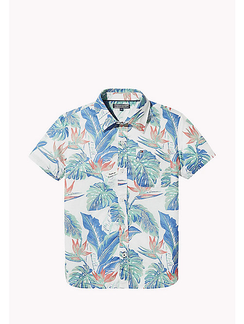TOMMY HILFIGER Tropical Print Shirt - BRIGHT WHITE/MULTI - TOMMY HILFIGER Boys - main image