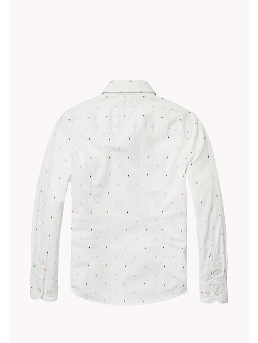 TOMMY HILFIGER Dobby Cotton Shirt - BRIGHT WHITE / MULTI - TOMMY HILFIGER Boys - detail image 1
