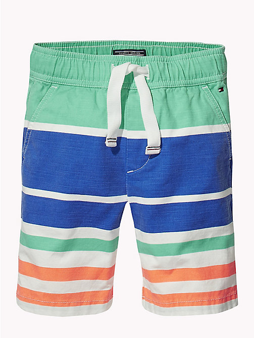 TOMMY HILFIGER Stripe Chino Shorts - BRIGHT WHITE / MULTI -  Boys - detail image 1