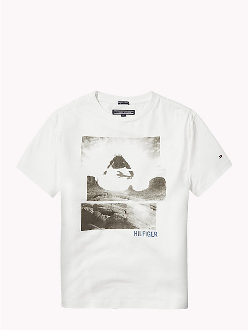 TOMMY HILFIGER Skateboarder Photo Print T-Shirt - BRIGHT WHITE - TOMMY HILFIGER T-shirts & Polos - detail image 1