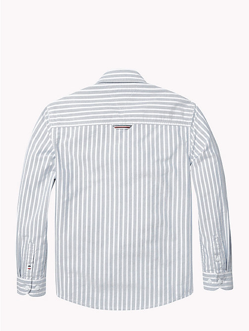 TOMMY HILFIGER Stripe Oxford Cotton Shirt - BLUE SAPPHIRE/BRIGHT WHITE - TOMMY HILFIGER Boys - detail image 1