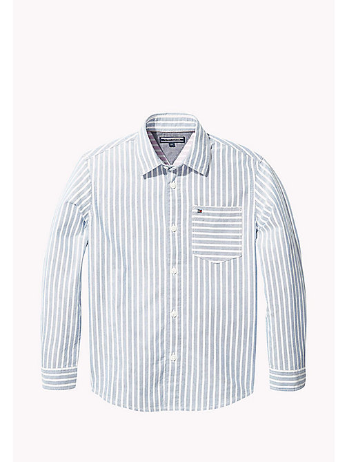 TOMMY HILFIGER Stripe Oxford Cotton Shirt - BLUE SAPPHIRE/BRIGHT WHITE - TOMMY HILFIGER Boys - main image