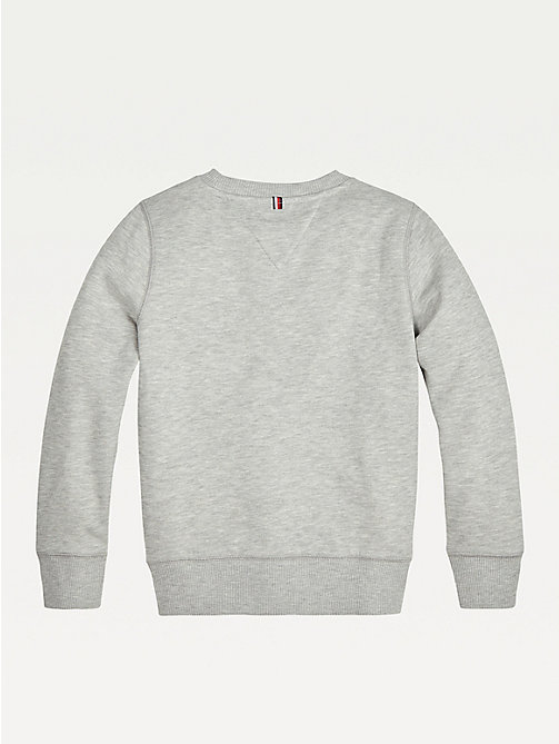 TOMMY HILFIGER Organic Cotton Sweatshirt - GREY HEATHER - TOMMY HILFIGER Sweatshirts & Hoodies - detail image 1
