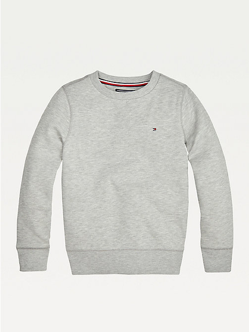 TOMMY HILFIGER Organic Cotton Sweatshirt - GREY HEATHER - TOMMY HILFIGER Sweatshirts & Hoodies - main image