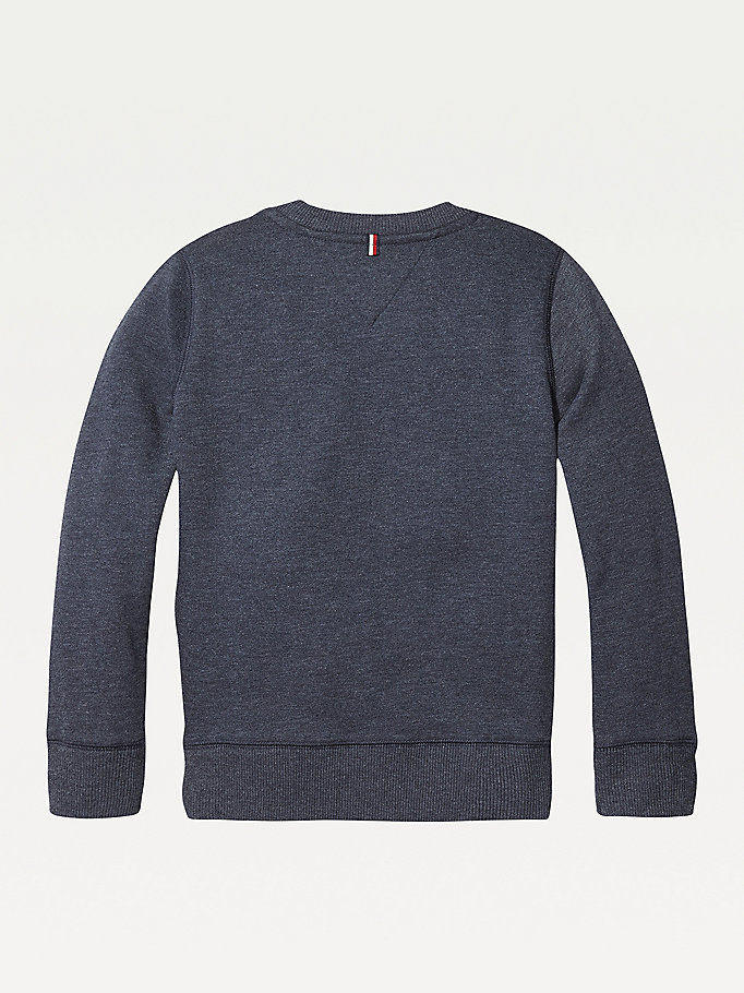 TOMMY HILFIGER Organic Cotton Sweatshirt - GREY HEATHER - TOMMY HILFIGER Kids - detail image 1