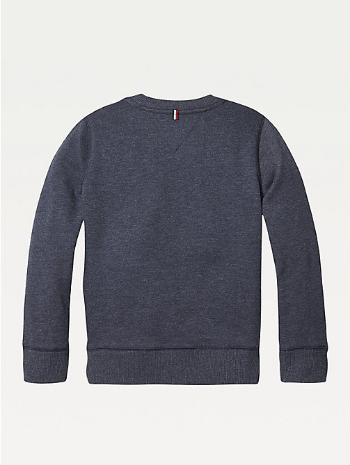 TOMMY HILFIGER Organic Cotton Sweatshirt - SKY CAPTAIN - TOMMY HILFIGER Sweatshirts & Hoodies - detail image 1
