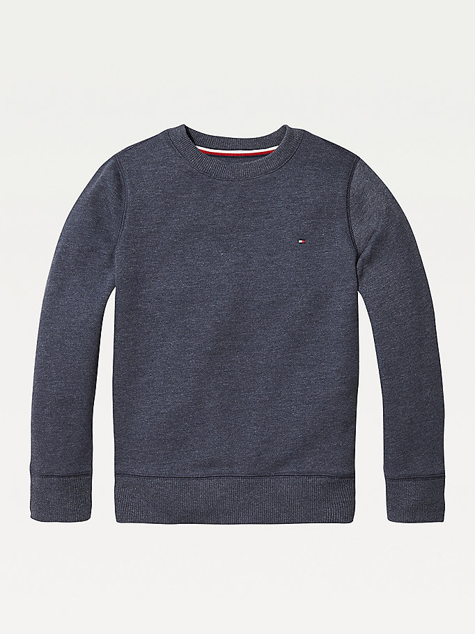 TOMMY HILFIGER Organic Cotton Sweatshirt - GREY HEATHER - TOMMY HILFIGER Kids - main image