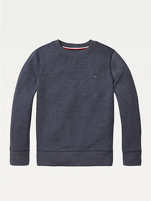 TOMMY HILFIGER Organic Cotton Sweatshirt - SKY CAPTAIN - TOMMY HILFIGER Sweatshirts & Hoodies - main image