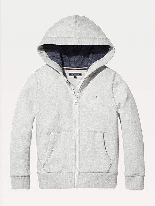 TOMMY HILFIGER Felpa con cappuccio e zip Everyday - GREY HEATHER - TOMMY HILFIGER Felpe - immagine principale