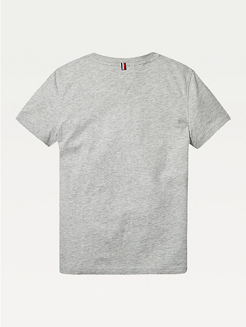 TOMMY HILFIGER T-shirt in cotone biologico Essential - GREY HEATHER - TOMMY HILFIGER Top & T-shirt - dettaglio immagine 1