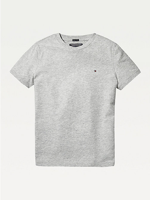 TOMMY HILFIGER Essential Organic Cotton T-Shirt - GREY HEATHER - TOMMY HILFIGER Tops & T-shirts - main image