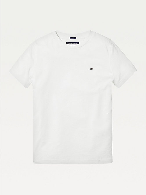 TOMMY HILFIGER T-shirt in cotone biologico Essential - BRIGHT WHITE - TOMMY HILFIGER Top & T-shirt - immagine principale