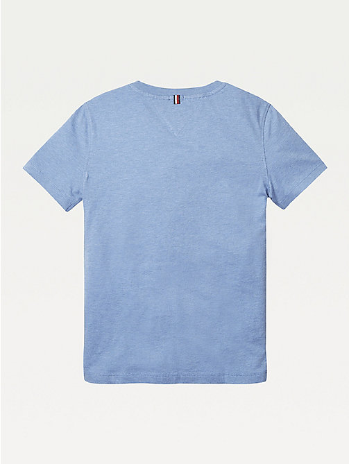 TOMMY HILFIGER Essential Organic Cotton T-Shirt - DARK ALLURE HEATHER - TOMMY HILFIGER Tops & T-shirts - detail image 1