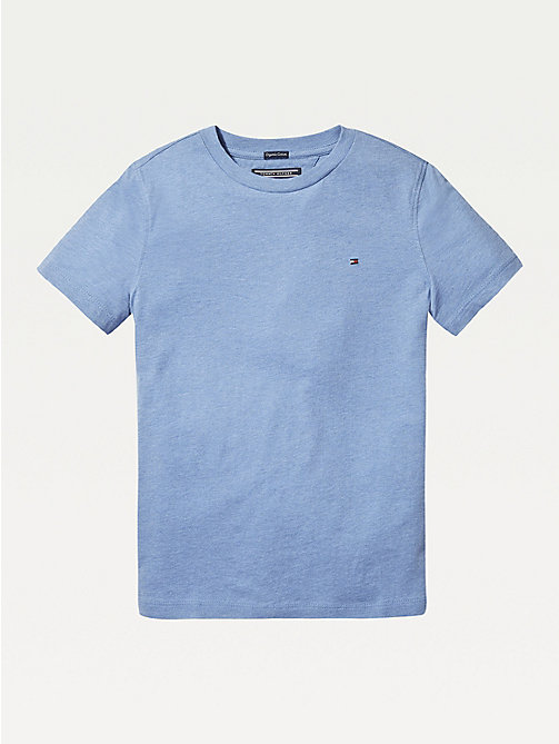TOMMY HILFIGER Essential Organic Cotton T-Shirt - DARK ALLURE HEATHER - TOMMY HILFIGER T-shirts & Polos - main image