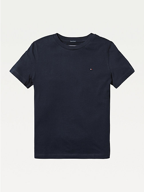 TOMMY HILFIGER Essential Organic Cotton T-Shirt - SKY CAPTAIN - TOMMY HILFIGER Tops & T-shirts - main image