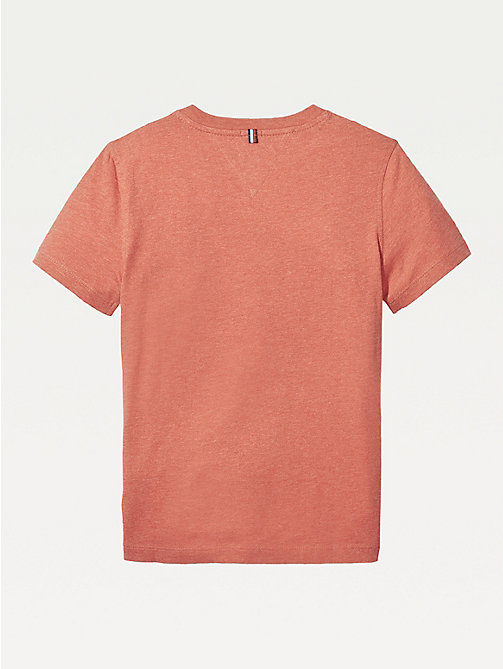 TOMMY HILFIGER T-Shirt aus Bio-Baumwolle - APPLE RED HEATHER - TOMMY HILFIGER T-shirts & Poloshirts - main image 1