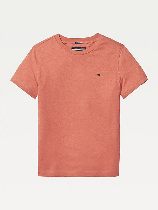 TOMMY HILFIGER T-shirt in cotone biologico Essential - APPLE RED HEATHER - TOMMY HILFIGER Top & T-shirt - immagine principale