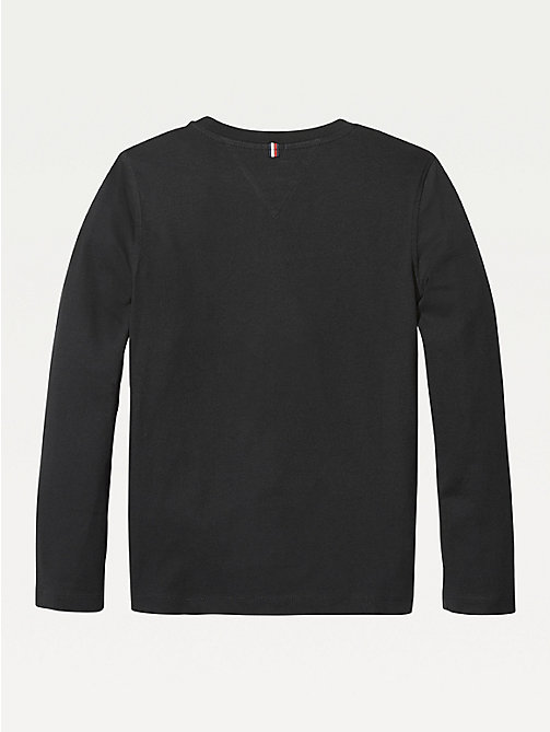 TOMMY HILFIGER Long-Sleeve Organic Cotton T-Shirt - METEORITE - TOMMY HILFIGER T-shirts & Polos - detail image 1