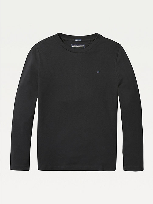 TOMMY HILFIGER Long-Sleeve Organic Cotton T-Shirt - METEORITE - TOMMY HILFIGER T-shirts & Polos - main image