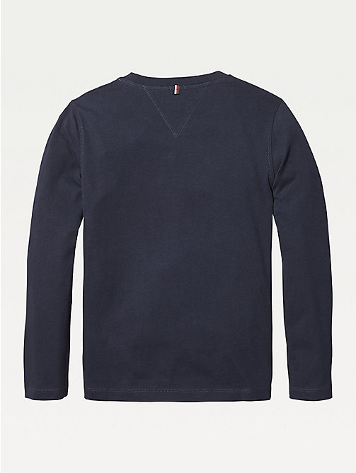 TOMMY HILFIGER Long-Sleeve Organic Cotton T-Shirt - SKY CAPTAIN - TOMMY HILFIGER T-shirts & Polos - detail image 1