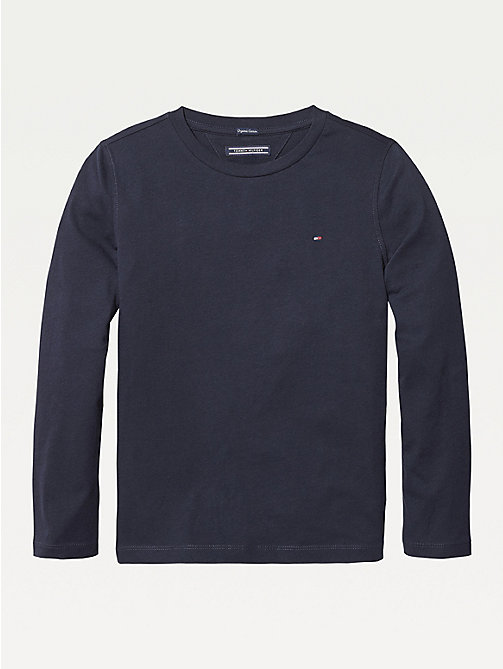 TOMMY HILFIGER Long-Sleeve Organic Cotton T-Shirt - SKY CAPTAIN - TOMMY HILFIGER T-shirts & Polos - main image
