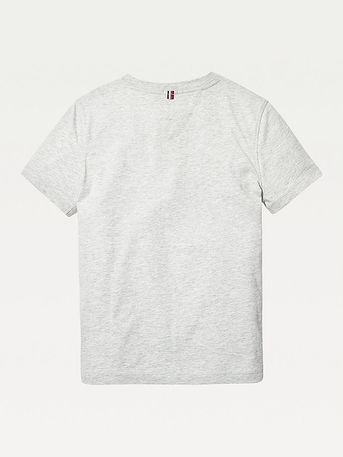 TOMMY HILFIGER Organic Cotton V-Neck T-Shirt - BRIGHT WHITE - TOMMY HILFIGER Kids - detail image 1