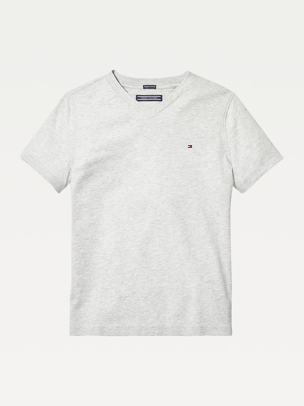 Tommy Hilfiger - T-shirt en coton bio col en V - 1