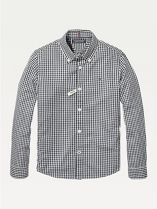 TOMMY HILFIGER Long Sleeve Gingham Shirt - SKY CAPTAIN - TOMMY HILFIGER Shirts - main image
