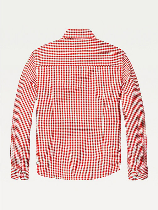 TOMMY HILFIGER Long Sleeve Gingham Shirt - APPLE RED - TOMMY HILFIGER Shirts - detail image 1